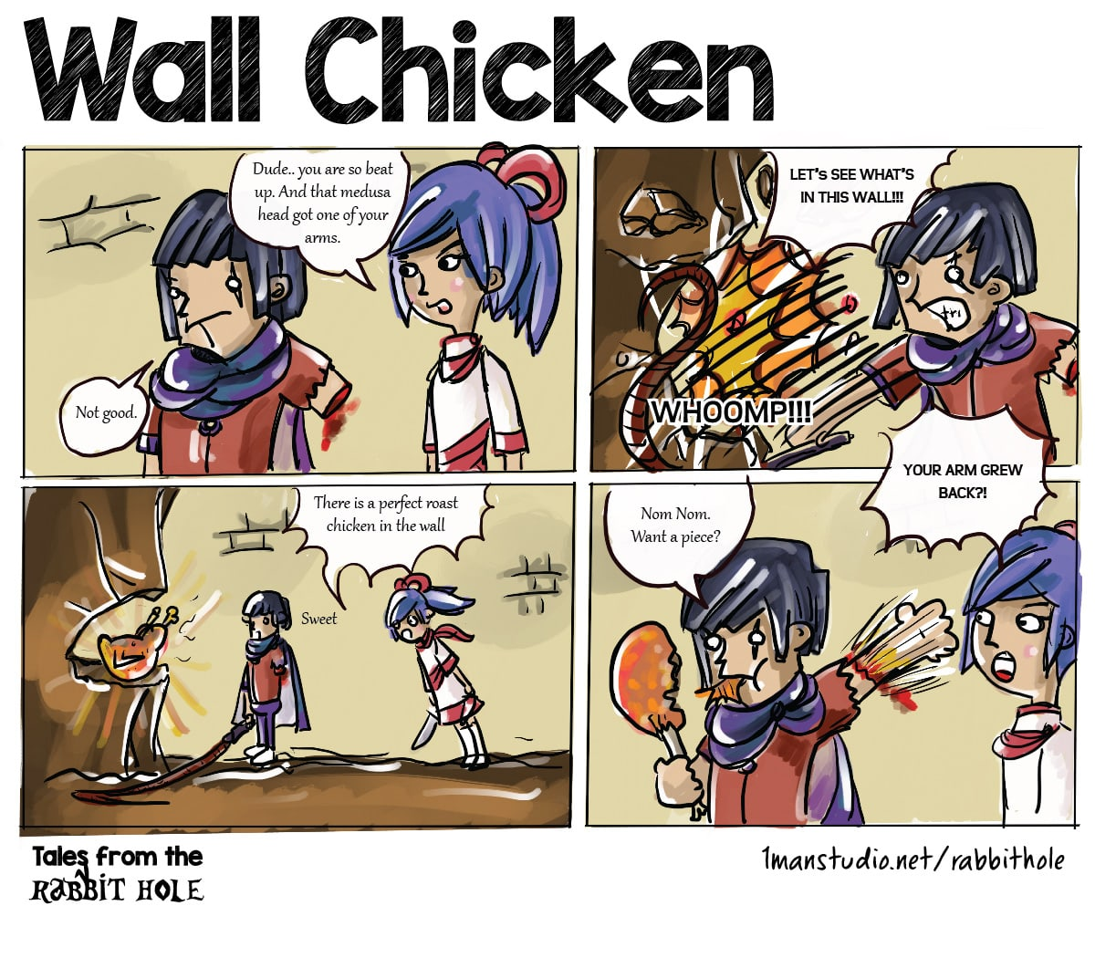 Wall Chickens - Tales from the Rabbit Hole