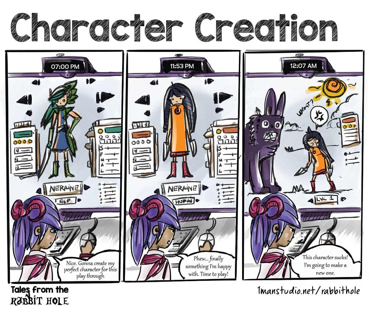 Character Creation - Tales from the rabbit hole
